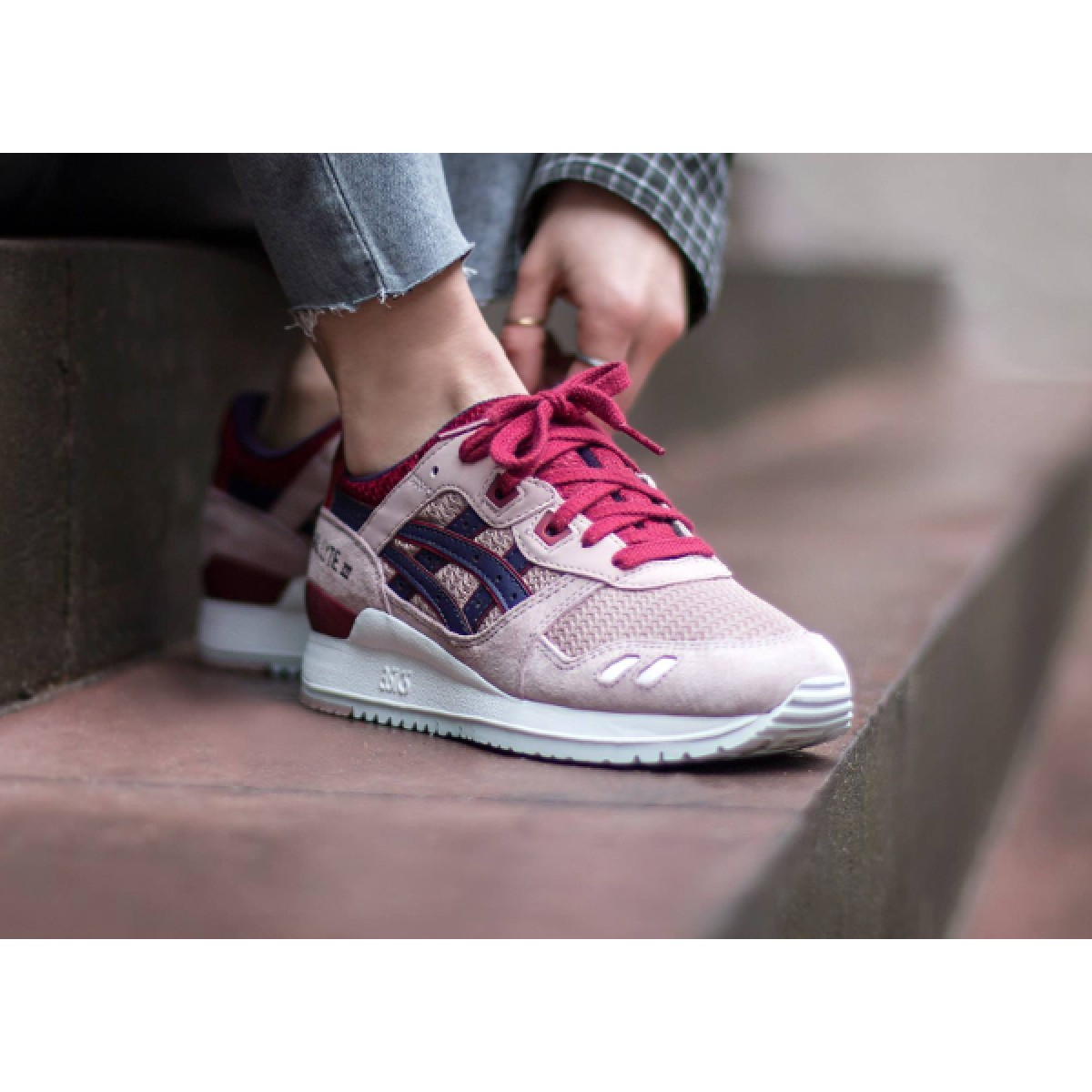Achat   Vente produits Asics Gel Lyte 3 Femme Beige,Professionnel Courir Chaussures  Asics Gel 895a1a221c29