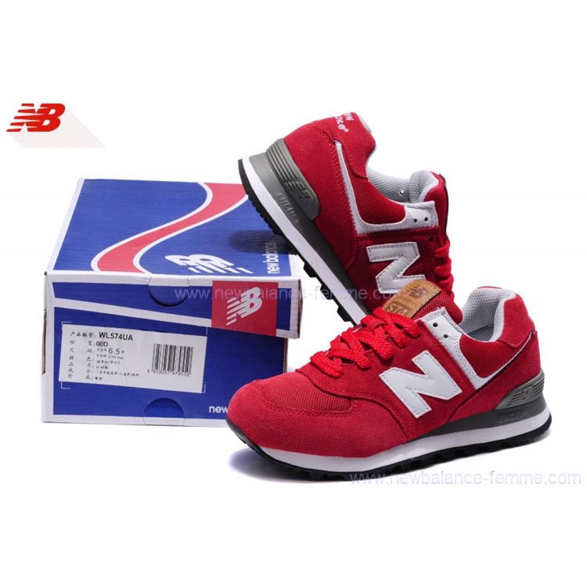 new balance femmes 574 rouge