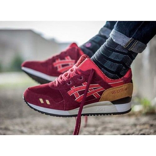 Achat / Vente produits Asics Gel Lyte 3 Femme Rouge,Professionnel Courir Chaussures Asics Gel Lyte 3 Femme Rouge Pas Cher[Chaussure-9874260]