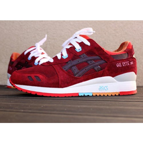 Achat / Vente produits Asics Gel Lyte 3 Femme Rouge,Professionnel Courir Chaussures Asics Gel Lyte 3 Femme Rouge Pas Cher[Chaussure-9874264]