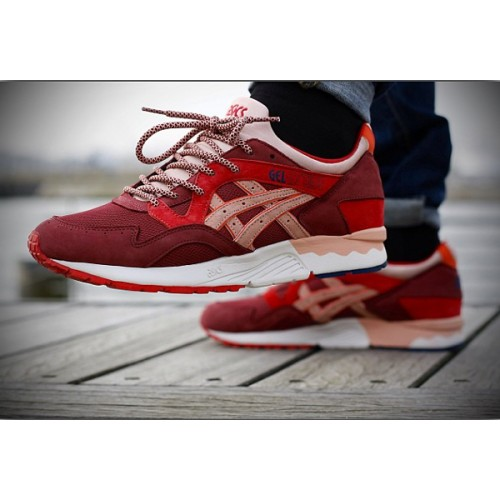 Achat / Vente produits Asics Gel Lyte 5 Femme Rouge,Professionnel Courir Chaussures Asics Gel Lyte 5 Femme Rouge Pas Cher[Chaussure-9874492]