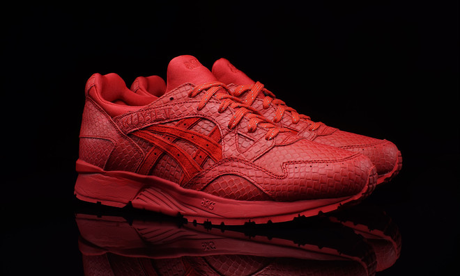 chaussures asics homme rouge