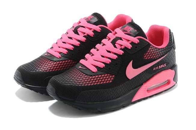 Achat / Vente produits Nike Air Max 90 Femme Noir et Rose,Nike Air ...