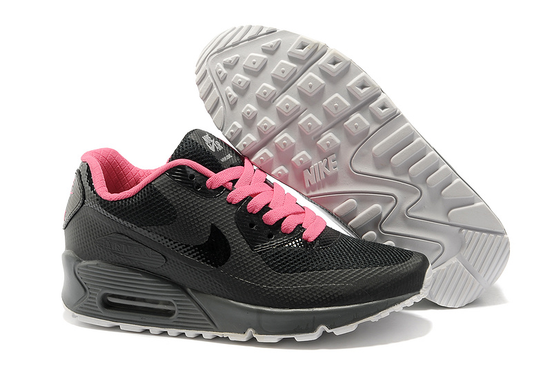 Nike Air Max 90 Femme Noir et Rose Officiel Atelier  [9875303]