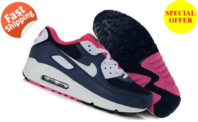 Nike Air Max 90 Femme Noir et Rose Officiel Atelier  [9875305]