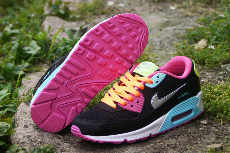 Nike Air Max 90 Femme Noir et Rose Officiel Atelier  [9875310]