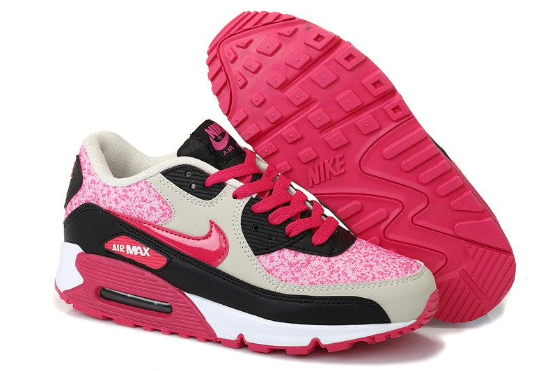 Nike Air Max 90 Femme Noir et Rose Officiel Atelier  [9875315]