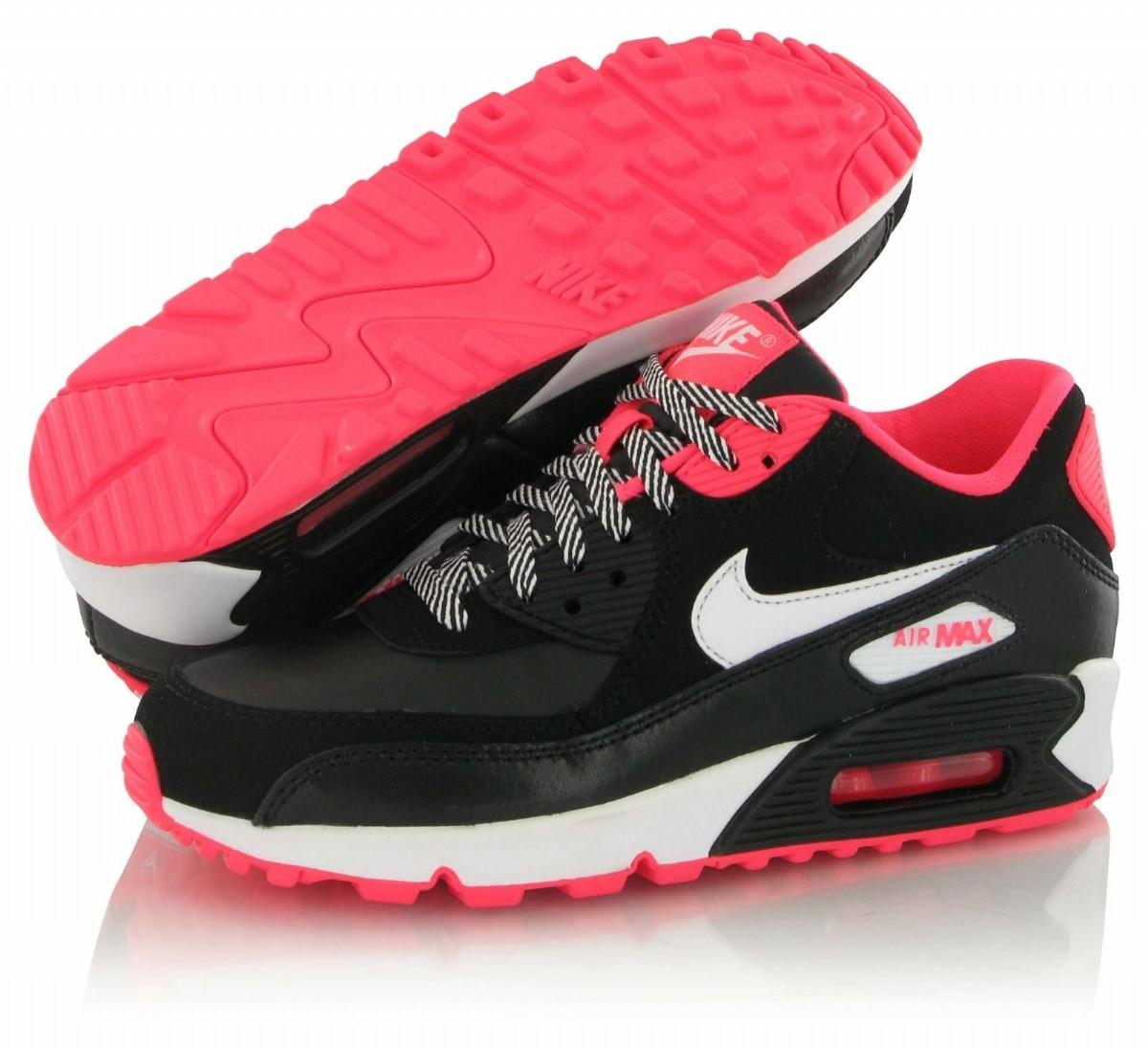 air max 90 noir et rose fluo