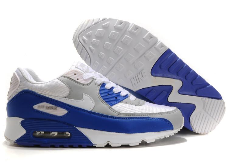 nike air max 90 bleu blanc